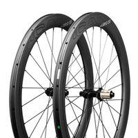 ICAN Carbon Laufräder AERO 55 Disc Rennrad Laufradsatz 55mm Drahtreifen Tubeless Ready Scheibenbremse 12x100 / 12x142mm Nur 1468g