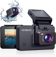 """Kingslim D4 4K Dual Dashcam mit WiFi GPS, vordere 4K/2.5K hintere 1080P Autokamera, 3"""" IPS Touchscreen 170° FOV Dashboard Cam mit Starvis Sensor, Unterstützung 256GB max"""