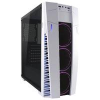 LC Power Gaming 992W - Solar Flare - Midi Tower - PC - Acrylglas - Metall - Schwarz - Weiß - ATX,Mic LC Power