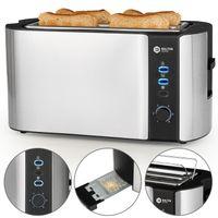 Balter Toaster 4 Scheiben Langschlitz Edelstahl Brötchenaufsatz Sandwich 1500W