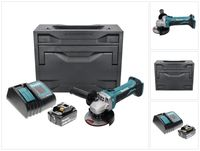 Makita DGA 452 ST1X Akku Winkelschleifer 18 V 115 mm + 1x Akku 5,0 Ah + Ladegerät + Makbox
