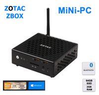 ZOTAC ZBOX nano CI320 - Mini-PC - 1 x Celeron N2930 / 1.83 GHz - RAM 2 GB - SSD 64 GB - HD Graphics