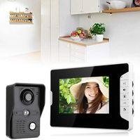 """7"""" Funk Video Türsprechanlage Türklingel Gegensprechanlage LCD Monitor mit überwachungskamera Set"""