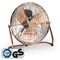 TROTEC TVM 13 Bodenventilator Kupfer Design Ventilator/ Windmaschine | 3 Geschwindigkeitsstufen | 44 Watt Leistung | Durchmesser 35 cm