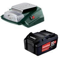 Metabo Akku 18 V 4,0 Ah Li-ION + USB Adapter mit LED Licht CAS System Mafell