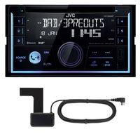 JVC KW-DB93BT 2-DIN CD MP3 DAB+ Autoradio USB Bluetooth inkl. DAB Antenne