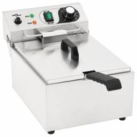 Mllaid Elektro-Fritteuse Edelstahl 10 L 3000 W