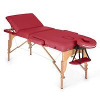 Klarfit MT 500 - Massageliege , Massagetisch , Massagebank , 10-stufige Rückenlehne , Armlehnen , Kopfstütze , verstellbare Fußstützen , Gesichtsloch