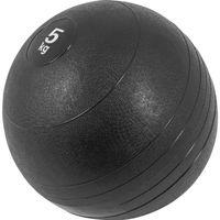 GORILLA SPORTS® Medizinball - 5kg Gewichte, mit Griffiger Oberfläche, Rutschfest, Schwarz - Gewichtsball, Fitnessball, Slamball, Trainingsball