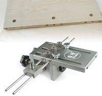 3-in-1 Bohrlocher Dübellehre Bohrschablone Bohrführung Holzbearbeitung Selbstzentrierend Jig Guide Kit 6/8/10mm