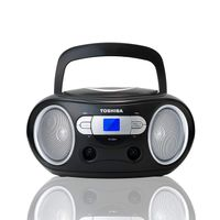 Toshiba - Portable CD Boombox - CD Player, FM Radio, black