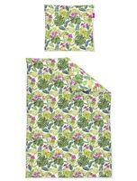 Irisette Freundin Mako-Satin Bettwäsche 135x200 Tropical Blätter Orchidee 8939-30