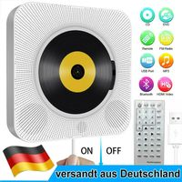 4K USB Tragbarer HDMI DVD CD Musik Player Micro Betrieb Bluetooth Wandmontage DE