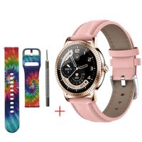Smartwatch 1,22 zoll rosa Frauen Metall wasserdicht ip67 Blutdruckmessung multi sport modi smart watch band