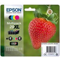 Epson Strawberry Multipack 4-colours 29XL Claria Home Ink, Original, Tinte auf Pigmentbasis, Schwarz, Cyan, Magenta, Gelb, Epson, Multi pack, - Expression Home XP-455 - Expression Home XP-452 - Expression Home XP-445 - Expression Home...
