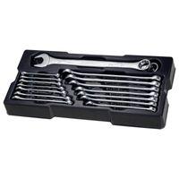 STANLEY STMT1-74178 TransModul Ring-Maulschlüssel Set für Werkstattwagen System, 16-teilig - Werkzeug aus Chrom-Vanadium Stahl