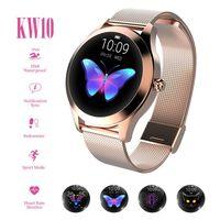KW10 Smart Watch Sportwatch Damen IP68 Wasserdichte Pulsuhr Fashion Lovely Smart Watch Armband Herzfrequenzmesser Schlafüberwachung SmartWatch Connect Ios Android Gold
