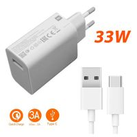 Original Xiaomi QuickCharge 3.0 USB 33W 3A USB-C Ladegerät Netzteil Ladekabel Charger MDY-11-EZ