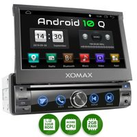 XOMAX XM-DA759: 1DIN Autoradio mit Android 10 Navi 7 Zoll Touchscreen Monitor, Bluetooth, DVD, CD, SD und USB