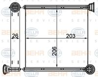 HELLA Wärmetauscher Innenraumheizung für VW GOLF VII 5G1 BE1