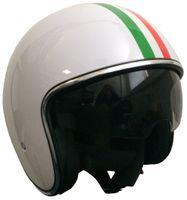 Jethelm 588 Italia weiß Größe L mit Sonnenvisier Sturzhelm Rollerhelm Motorradhelm