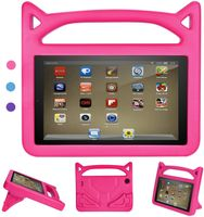 Hülle für All-New Amazon Fire HD 7 Tablet (7th & 8th Generation – 2016 & 2018 Modell) - Superleicht Eva Kids Shock Proof Cover Stoßfest Kindgerechte Schutzhülle, Pink