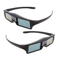 2 Stücke Wiederaufladbar DLP-Link 3D Active-Shutter Brille 144Hz Blendengläser für Optoma / BenQ TV