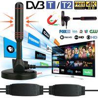 USB Digital 30dbi Leistungsstarke DVB-T2 1080P HD TV Receiver Antenne DVBT Außen Stabantenne 2xVerstärker Auto Haus mit Magnetfuss