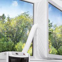 TOPOWN 400cm Fensterabdichtung Für Mobile Klimageräte, Fensterabdichtung klimagerät, Fensterabdichtung klimaanlage, Einfache Installation Kein Bohren erforderlich (DHL Lieferung innerhalb von 4 Tagen)