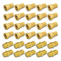 ARLI 20x F-Stecker 7 - 7,4 mm + 10x F-Verbinder vergoldet