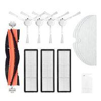 Ersatz-Staubsauger-Zubehör-Set passt für Dreame F9, 1 Rollenbürste + 4 Seitenbürste + 3 Filter + 3 Einweg-Mopptuch + 1 Kamm