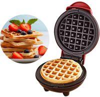 Mini Waffeleisen Maschine, elektrische Pfannkuchenmaschine, Antihaft, Tiefe Kochplatten, kleine Waffeleisen für Kinder Machen Kekse, Pfannkuchen, Ei