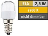 Müller-Licht LED-Lampe für Kühlschrank o. Dunstabzugshaube, 2,5W 230V E14 180lm 2700K