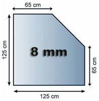 Funkenschutzplatte Glas 8mm Lienbacher 5eck 1250x1250mm
