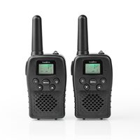Nedis Walkie-Talkie-Set | 2 Hörer | Bis zu 10 km | Frequenzkanäle: 8 | PTT / VOX | Bis zu 3 Hours | Schwarz NE550718447
