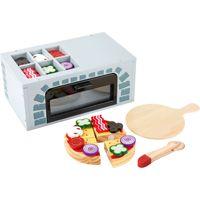 Small Foot 11204 Pizza-Ofen Kinderküche, 25-teilig (1 Set)