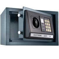 tectake Elektronischer Safe Tresor mit Schlüssel und LED-Anzeige inkl. Batterien - schwarz
