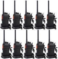 Retevis RT24 Plus Funkgerät Set, 10X Funkgerät mit Headset, 16 Kanäle PMR Funkgeräte, Walkie Talkies Set, IPx4 Wetterschutz, Two Way Radio