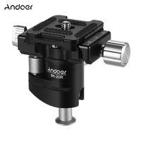 Andoer Mini Kugelkopf 360 Grad Panorama Kamera Stativ Kugelkopf Aluminiumlegierung mit 1/4 Zoll Schraube Schnellwechselplatte max. Laden Sie 6 kg für den DSLR-Kamera-Smartphone-Clip