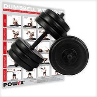 Kurz-Hanteln 2er Set 20, 30, 40kg gerändelt inkl. Workout und Sternverschlüssen 2 x 15 kg  (30 kg)