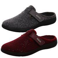 Rohde Damen Hausschuhe Pantoffeln Softfilz Bari 6556, Größe:40 EU, Farbe:Grau