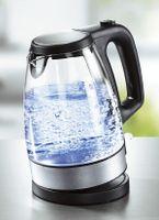 Glaswasserkocher 2 Liter  2000 Watt kabellos 360°  Abschaltautomatik  LED