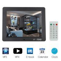 """Andoer 10"""" Desktop multifunktionalen hochaufloesenden Slim LCD Digital Photo Frame mit MP3 MP4 E-Buch-Kalender-Clock-Funktion mit Fernbedienung-Weihnachtsgeschenk"""