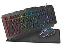 LogiLink ID0185 - Gaming Set aus Tastatur Metall, Maus und Mauspad - RGB LED - deutsches Layout