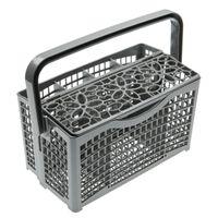 vhbw Universal Besteckkorb passend für Spülmaschine z.B. Miele, Bosch, Siemens - 23 x 13cm, teilbar, Blumendekor