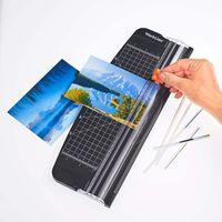 Papierschneider A4-Papier Tragbare Papierschneidemaschine Schneidemaschine für Etikett Foto Papier Fotoschneider Schwarz