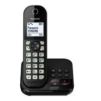 Panasonic KX-TGC 460GB Schnurloses-Telefon schwarz, Farbe:Schwarz
