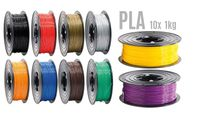 PLA Filament 3D Drucker 1,75mm / 10x 1kg Rolle 10 Farben für 3D Printer oder Stift 3er Set ( 10Kg )