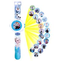 Digitaler LCD-Bildschirm Watche Projektor Uhr Timer Countdown Zähler Alarm Cartoon Print für Kinder Smartwatche Eiscreme