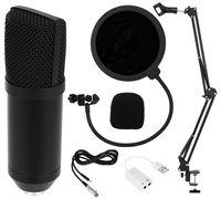 Kondensator-Mikrofon Kit mit USB Kabel Microphone für Computer mit Popschutz und Verstellbarem Mikrofonhalter Podcast Studio Rundfunk & Aufnahme 8957